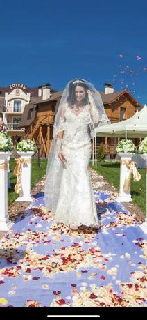 Свадебное платье,ручная работа