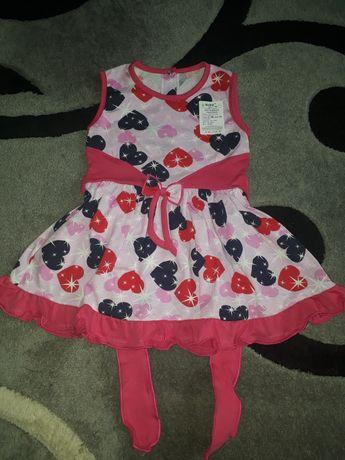 Розовое летнее платье для девочки на 1 год