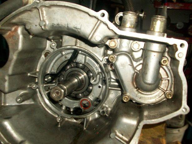 Silnik uszkodzony ze skrzynią biegów QUAD POLARIS 455 DIESEL części