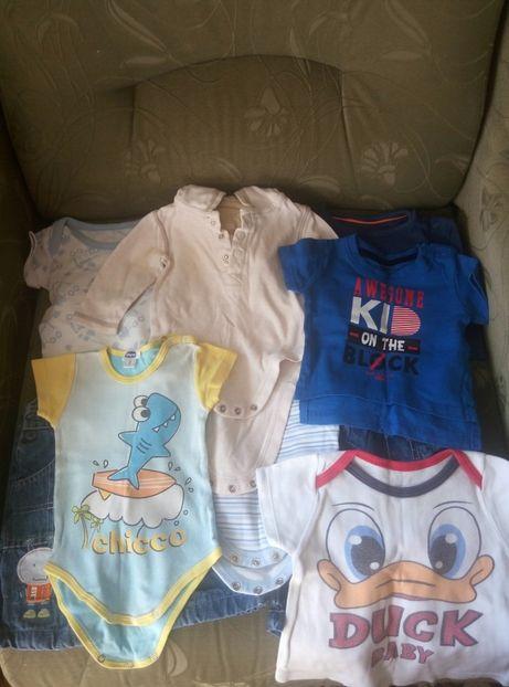 Большой пакет фирменных вещей на мальчика 0-3, 3-6 месяцев