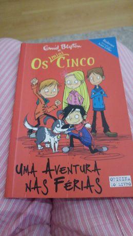 Livro os mini cinco uma aventura nas férias