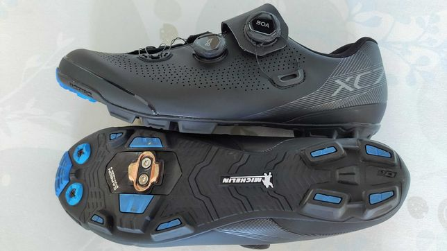 Ténis/Sapatos MTB BTT Shimano XC7, BOAx2, Michelin, T47, Novos