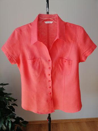Bluzka Mark & Spencer rozpinaną z krótkim rękawem rozmiar XL