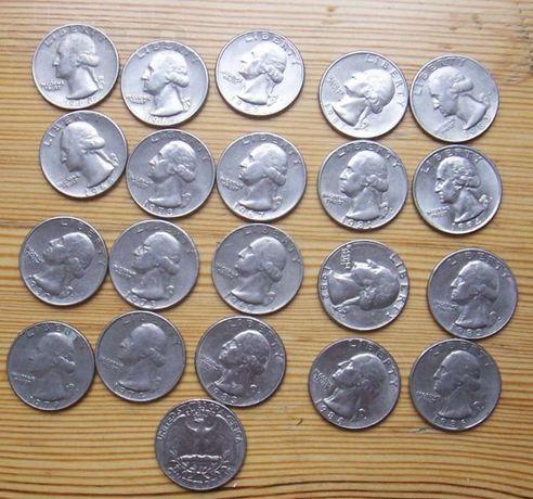 США. Тип Вашингтон - 25 центов, никель, разных годов