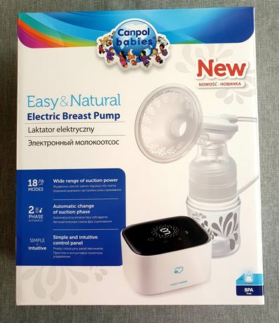 Nowy laktator elektryczny Canpol Babies Easy&Natural