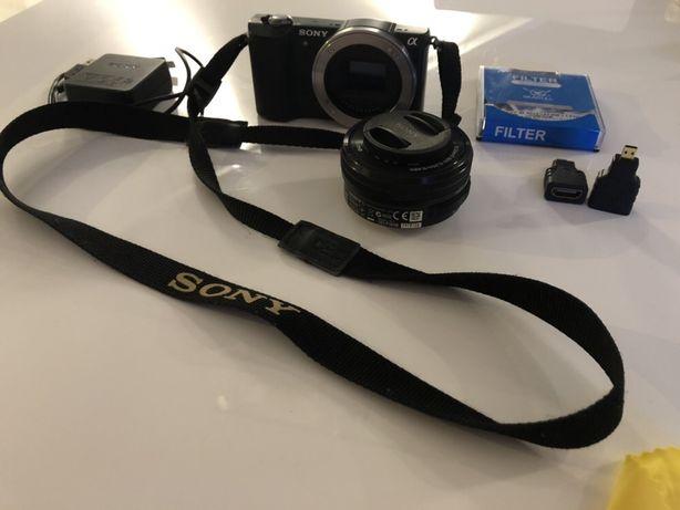 Aparat SONY A5000 Czarny + obiektyw SELP1650