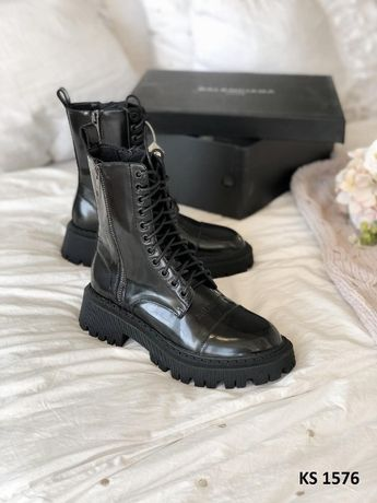 Ботинки женские Balenciaga (лакированные)! Артикул: KS 1576