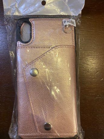 чехол-кошелек через плечо для iPhone ХS MAX