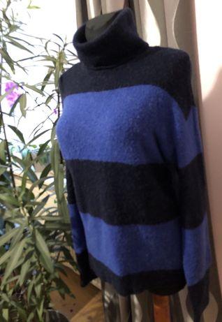 Sweter z golfem w pasy H&M r. M ***