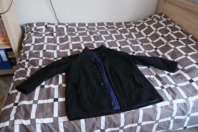 Elegancki, czarny płaszcz Marks & Spencer rozmiar XXL
