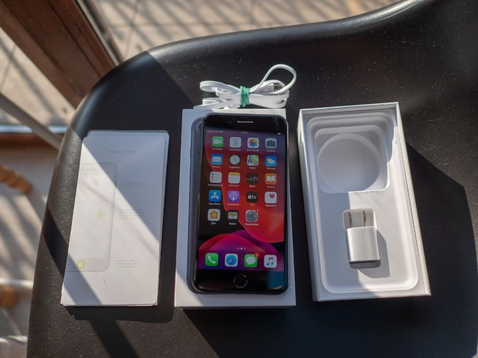 Apple Iphone 7+ plus, 256gb Matte Black Neverlock + комплект Черновцы - изображение 1