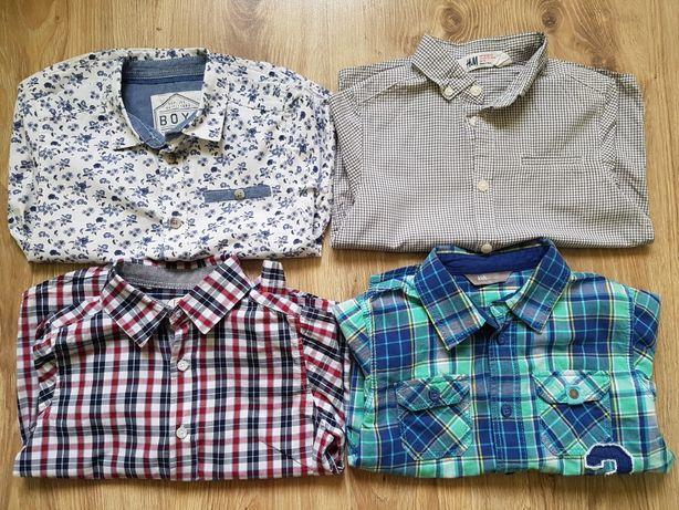Koszula krótki długi rękaw r.110 krata h&m