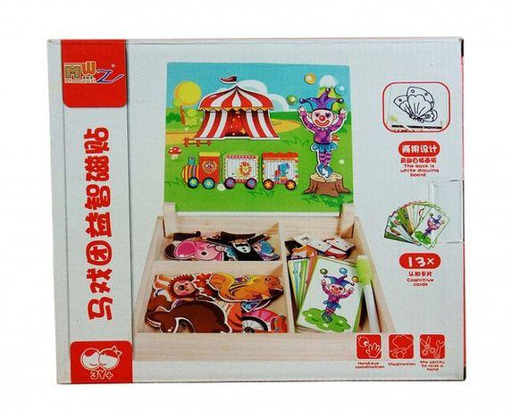 Розвиваюча іграшка Гардероб MD 1339 дерев'яна (Цирк)