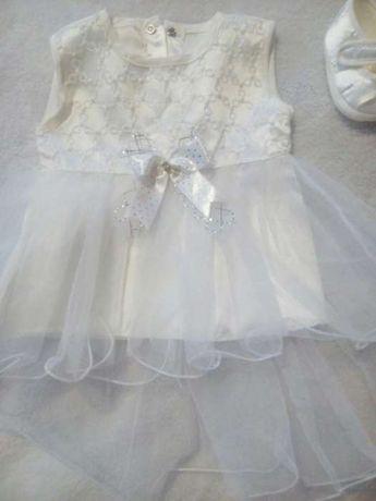 Набір для принцеси 0-5 міс. Плаття для дівчинки.Платице для девочки
