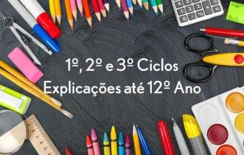 Explicações 1º - 12º ano Matemática, Física e Química