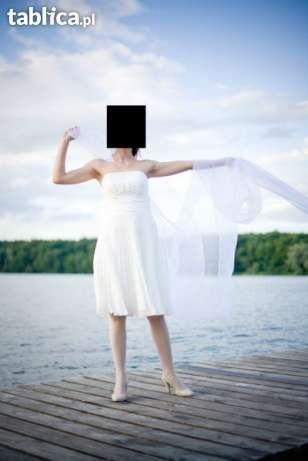 suknia, sukienka Chloe 34/36 ecru