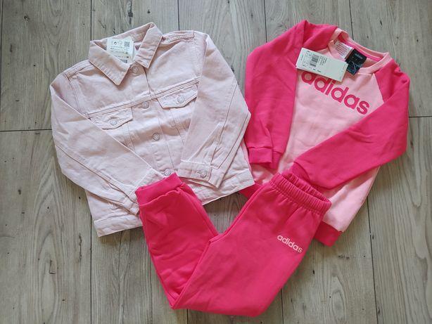 Zestaw dziewczęcy 104 Zara Adidas nowy dres katana