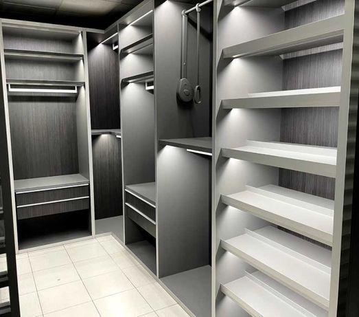 Гардеробные ,шкафы, раздвижные системы , на заказ