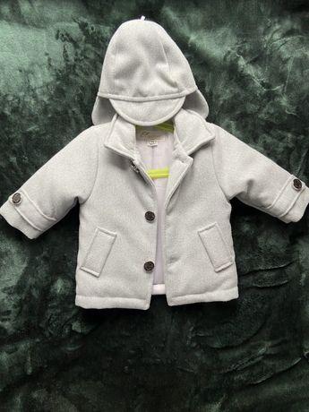 Eleganckie ( ciepłe) paltko - płaszcz dla chłopca rozmiar 74