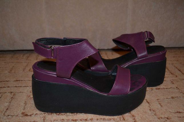 Женские Кожаные босоножки сандали 38р