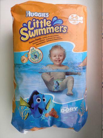 Трусики-подгузники для плавания Huggies р.5-6(12-18кг) 11шт\уп