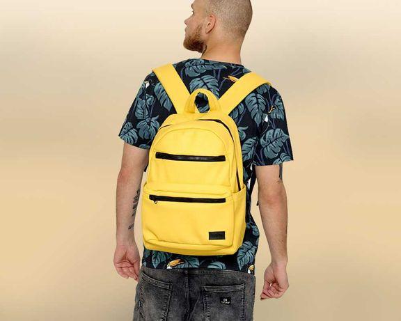 Удобный новый мужской рюкзак Sambag Zard LKT портфель желтого цвета