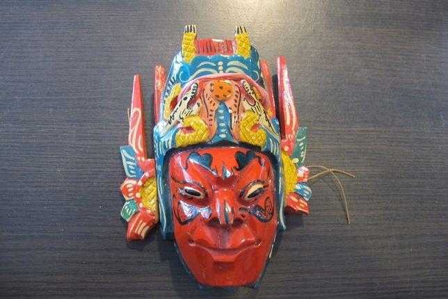 Maska drewniana kolorowa
