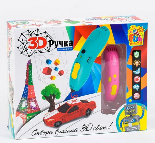 3Д ручка с 6 цветами пластика