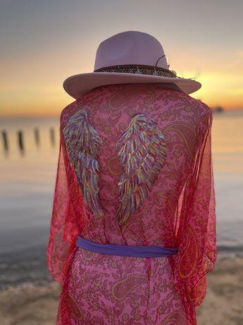 Kimono różowa mgiełka riz uniwersalny
