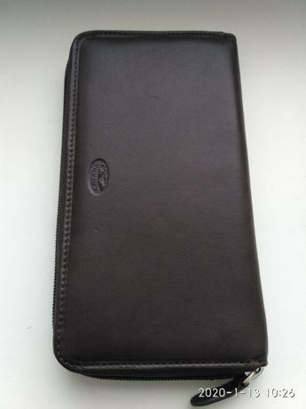 Клатч, бумажник, кошелек, мужской, кожаный КATANA
