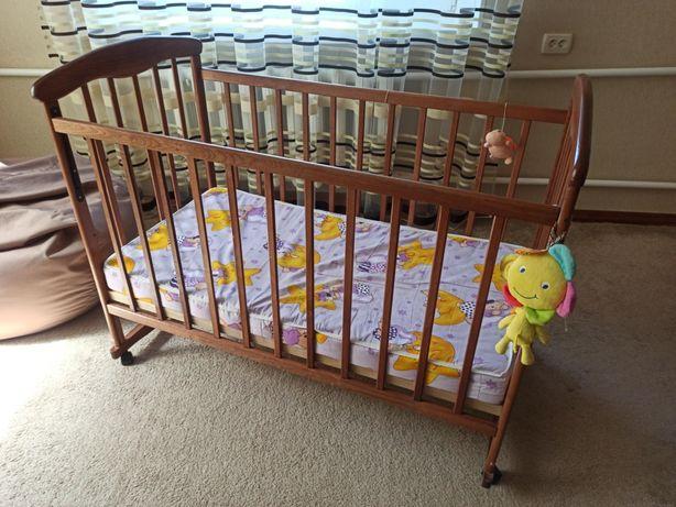 Кровать детская до 3 лет с матрасом