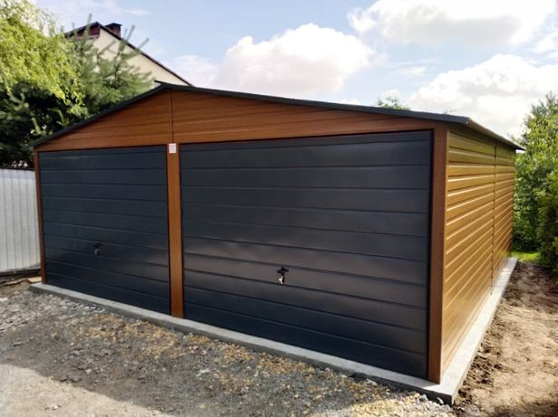 Garaż blaszany, garaż blaszak 6x5 ZŁOTY DĄB - PRODUCENT