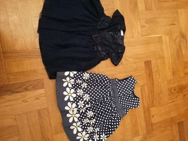 Sukienki 2 szt rozmiar 86