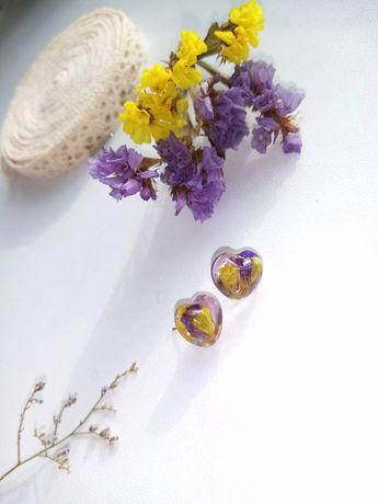 Сережки - цвяшки, гвоздики, пусети, сережки с цветами