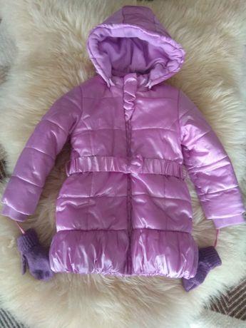 Sprzedam zimową kurtkę płaszczyk połyskujący Idexe 92-98
