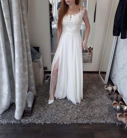 Suknia ślubna rozmiar XS na 156 cm + obcas 7 cm :)