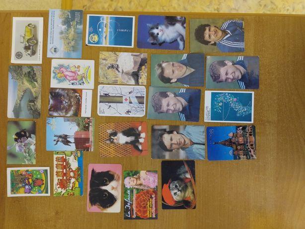 Календарики коллекционные маленькие