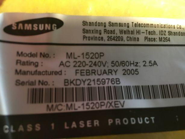 Лазерный принтер Samsung ML- 1520P плата лампа электродвигатель