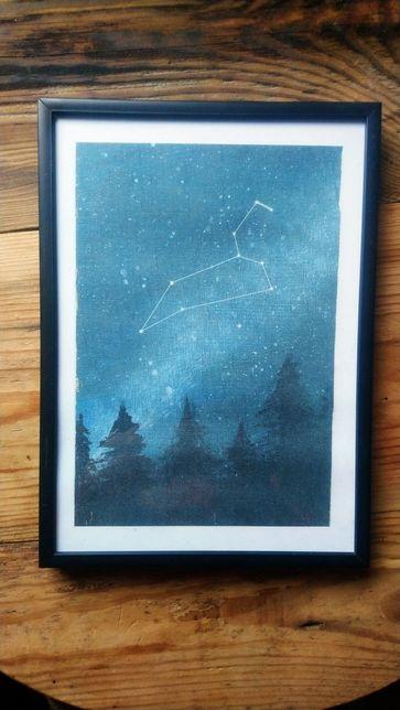 obrazek znak zodiaku, niebo, gwiazdozbiór, walentynki