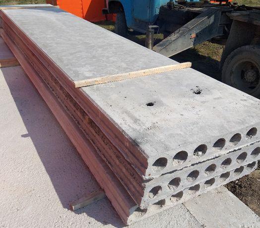 Панелі перекриття залізобетонні полегшені висота 16см