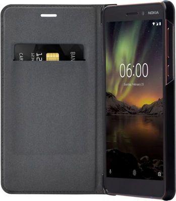 Чехол-книжка Nokia Flip Cover CP-308 для Nokia 6.1 (черный)