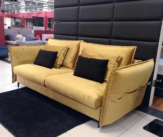 Sofa CARMEN z funkcją spania i pojemnikiem na pościel, duże spanie 160