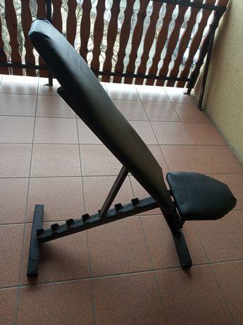 Ławka ławeczka regulowana do ćwiczeń wyciskania pod sztangę