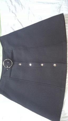 Czarna spódnica Zara na zatrzaski rozm. S/M