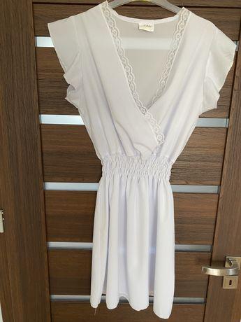 Sukienka biala firmy Pakuten rozmiar uniwersalny