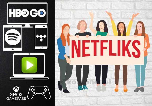 Netflix   HBO GO   IPLA TV  Spotify   ELEVEN Sports   TIDAL -> AUTOMAT