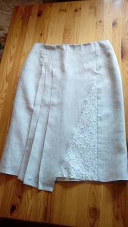 Spódnica spódniczka firmy Monnari-NOWA len z koronka rozm 38 okazja