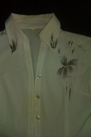 Офисная блузка белая, р. 46