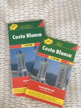 Mapa + informacje top 10 Costa Blanca