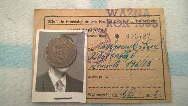 MPK Wałbrzych legitymacja pracownicza 1965 rok